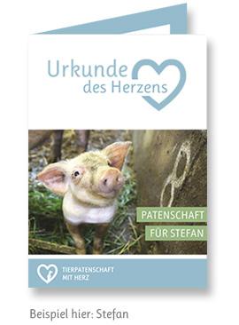 Tierpatenschaft mit Herz für Schwein Stefan verschenken